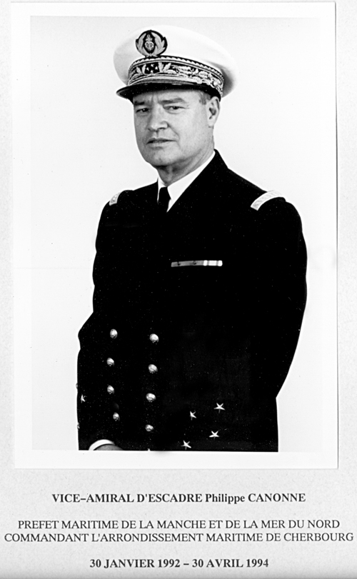 Vice-amiral d'escadre Philippe Canonne 1992-1994 (photo : marine nationale)