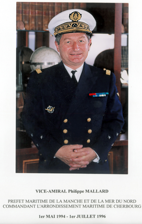 Vice-amiral Philippe Mallard 1994-1996 (photo : marine nationale)