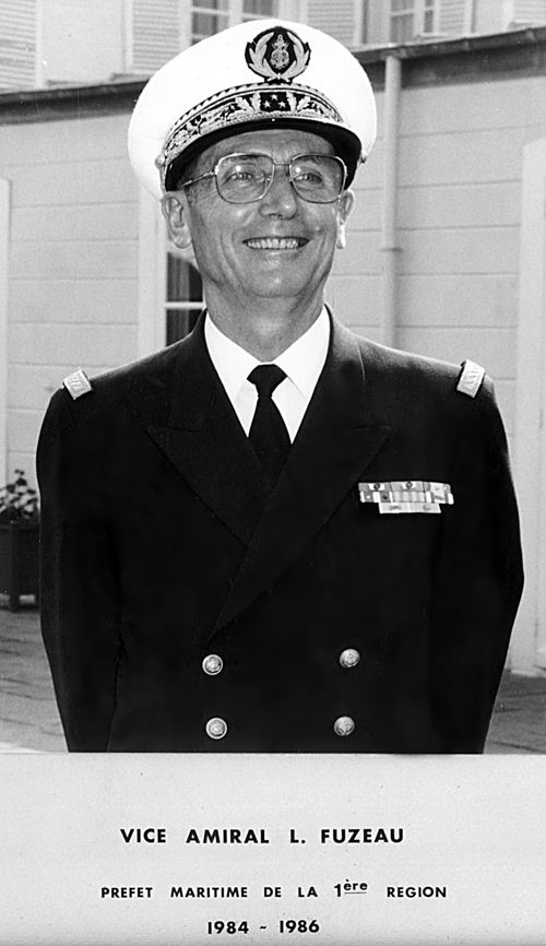 Vice-amiral L. Fuzeau 1984-1986 (photo : marine nationale)