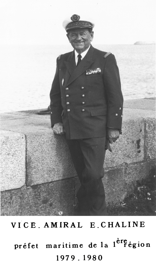 Vice-amiral E. Chaline 1979-1980 (photo : marine nationale)