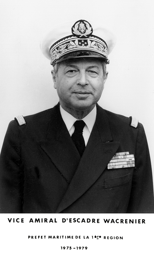Vice-amiral d'escadre Wacrenier 1975-1979 (photo : marine nationale)