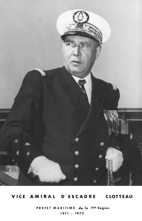 Vice-amiral d'escadre Clotteau 1971-1973 (photo : marine nationale)