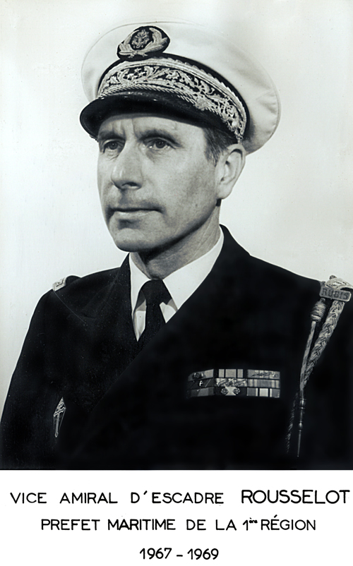 Vice-amiral d'escadre Rousselot 1967-1969 (photo : marine nationale)