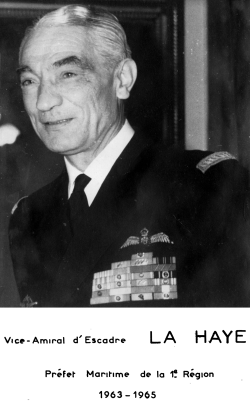 Vice-amiral d'escadre La Haye 1963-1965 (photo : marine nationale)