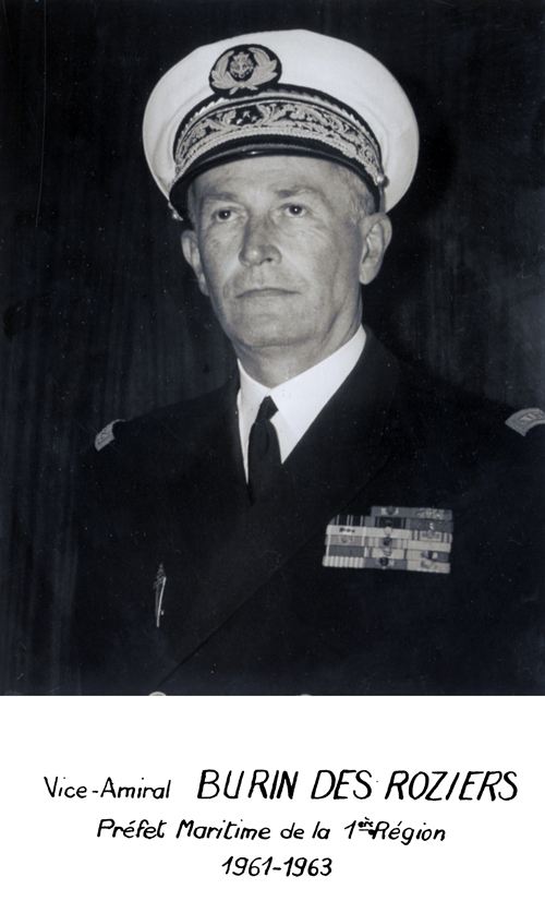 Vice-amiral Burin des Roziers 1961-1963 (photo : marine nationale)