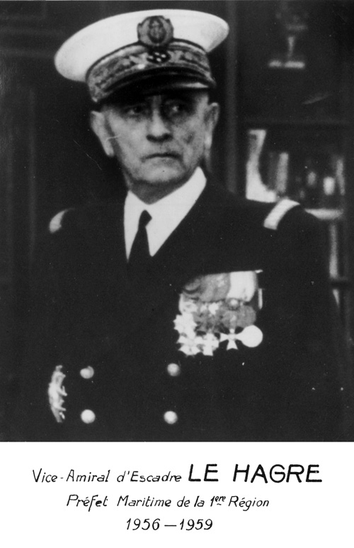 Vice-amiral d'escadre Le Hagre 1956-1959 (photo : marine nationale)
