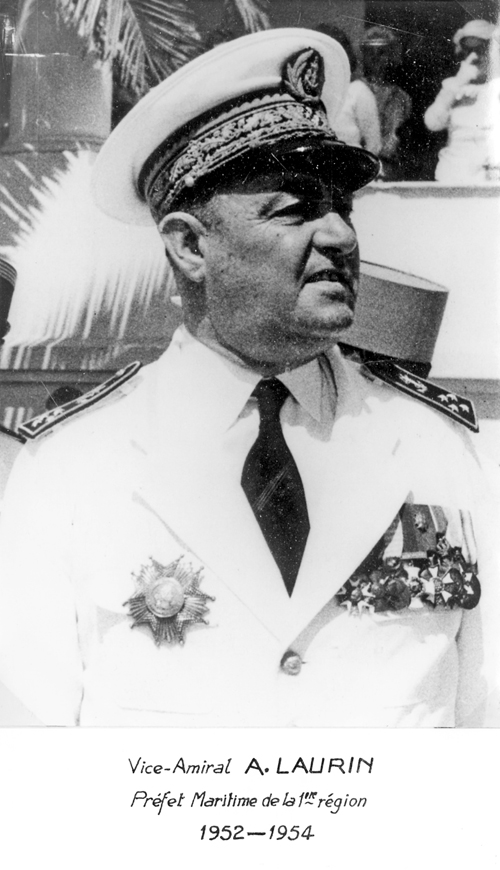 Vice-amiral A. Laurin 1952-1954 (photo : marine nationale)