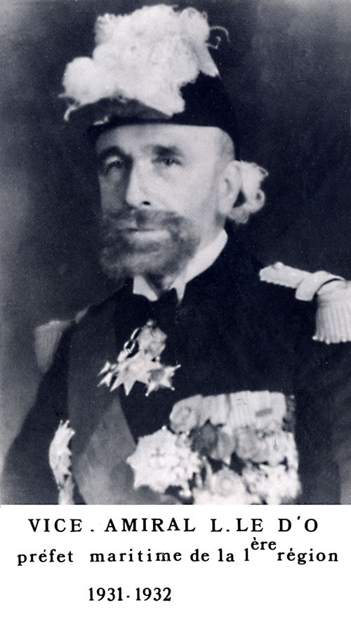 Vice-amiral L. Le D'O 1931-1932 (photo : marine nationale)