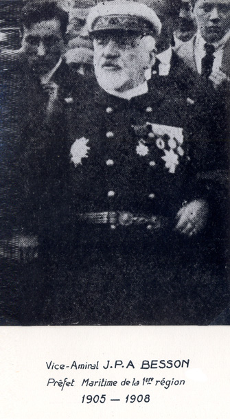 Vice-amiral J.P.A. Besson 1905-1908 (photo : marine nationale)