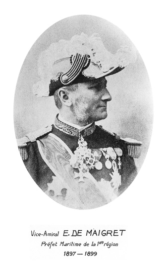 Vice-amiral E. de Maigret 1897-1899 (photo : marine nationale)