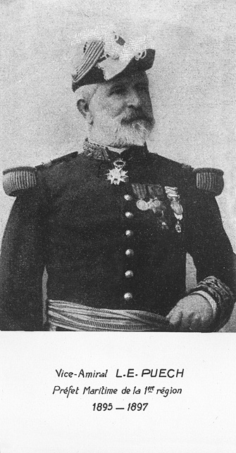 Vice-amiral L.E. Puech 1895-1897 (photo : marine nationale)