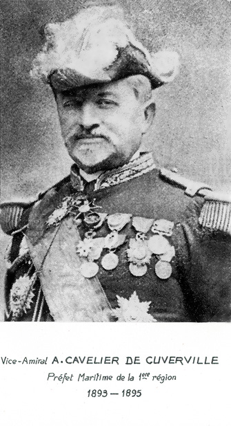 Vice-amiral A. Cavelier de Cuverville 1893-1895 (photo : marine nationale)