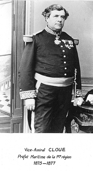 Vice-amiral Cloue 1875-1877 (photo : marine nationale)
