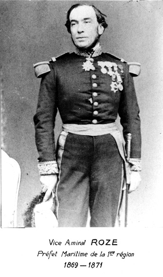 Vice-amiral Roze 1869-1871 (photo : marine nationale)