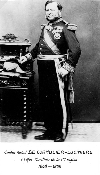 Contre-amiral De Cornulier-Lucinière 1868-1869 (photo : marine nationale)