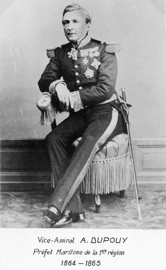 Vice-amiral A. Dupouy 1864-1865 (photo : marine nationale)