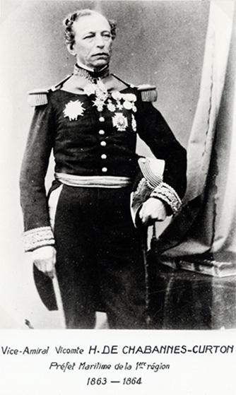 Vice-amiral Vicomte H. De Chabannes-Curton 1863-1864 (photo : marine nationale)