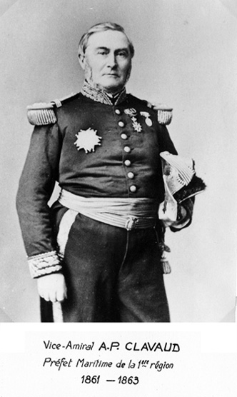 Vice-amiral A.P. Clavaud 1861-1863 (photo : marine nationale)