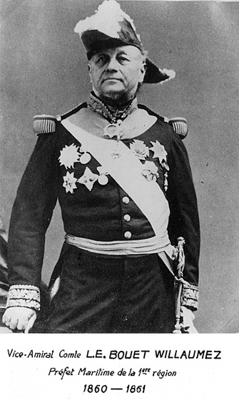 Vice-amiral Comte L.E. Bouet Willaumez 1860-1861 (photo : marine nationale)