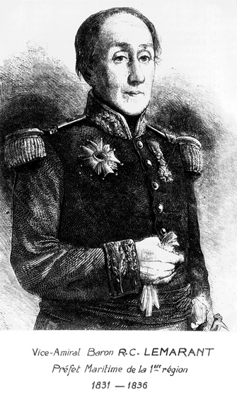 Vice-amiral Baron R.C. Lemarant 1831-1836 (photo : marine nationale)
